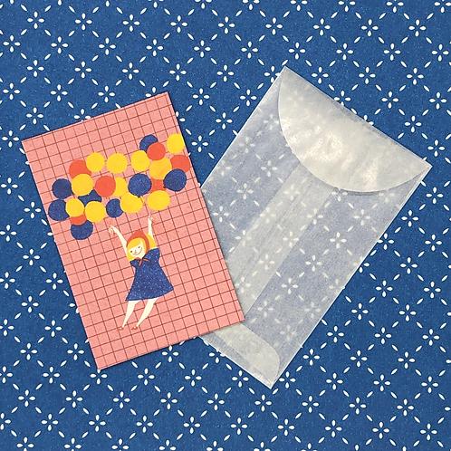 Balloon Girl Mini Card