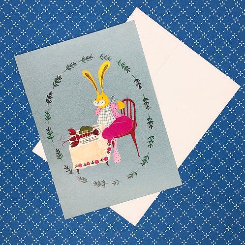 Rabbit & Lobster Card