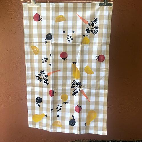 Veggie & Fruit Tea Towel