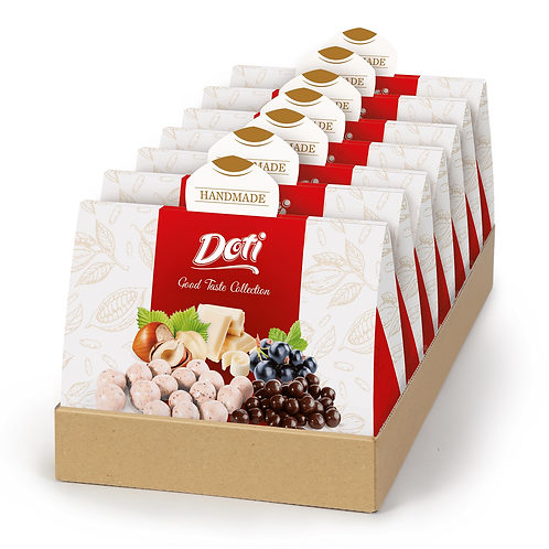Chokolade med bær og nødder- vælg ml. flere vrianter