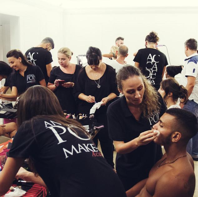 sfilata makeup team pop academy