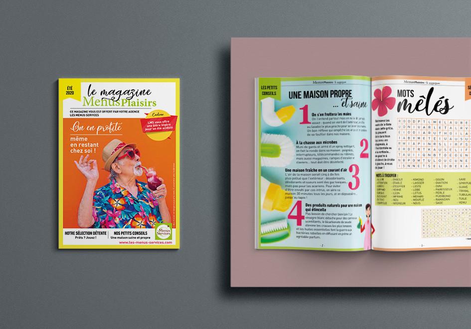 Le magazine des Menus Plaisirs - 12 pages de jeux - Mise en page graphique et colorée !