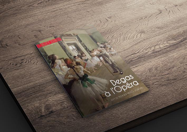 Mise en page magazine, Degas à l'Opéra, Conception graphique et réalisation