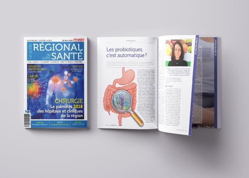 Guide régional de votre Santé, mise en page, infographie