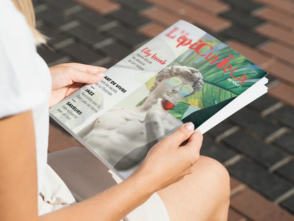 Direction artistique, conception puis réalisation du nouveau magazine de Vienne Condrieu Tourisme
