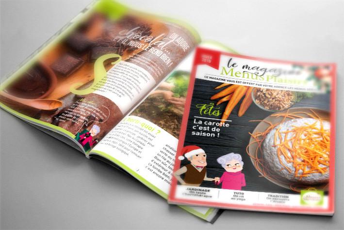 Les Menus Plaisirs, mini magazine de 12 pages, réalisé par HeLLo HeLLo, Joanna Perraudin, graphiste freelance magazines