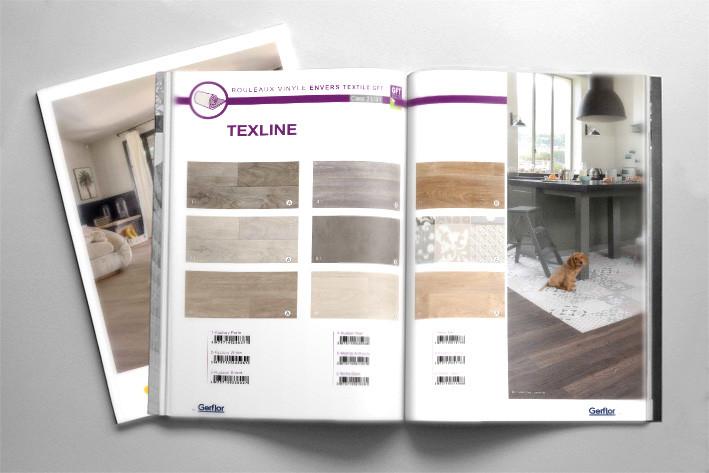 Gerflor, mise en page de catalogue produits
