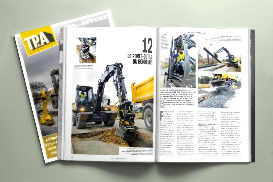 Mise en page du bimestriel TP&A magazine. Joanna Perraudin, HeLLo HeLLo, graphiste print Lyon
