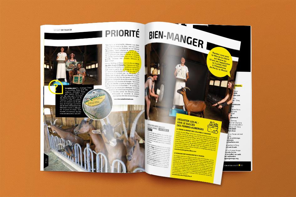 Saône & Loire Magazine, HeLLo HeLLo, Joanna Perraudin, conception et réalisation de magazines