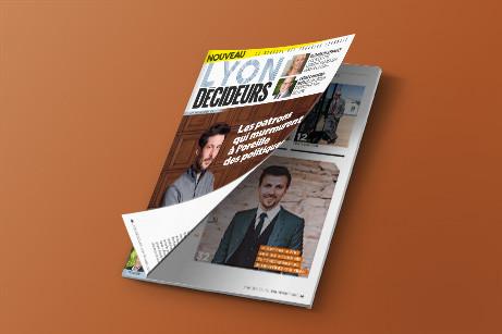 Lyon Décideurs, nouveau mensuel mis en page par HeLLo HeLLo, Joanna Perraudin, graphiste magazine à Lyon