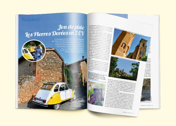 Réalisation du magazine Autour de Lyon, 96 pages