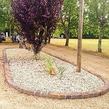 jardin avec bordures