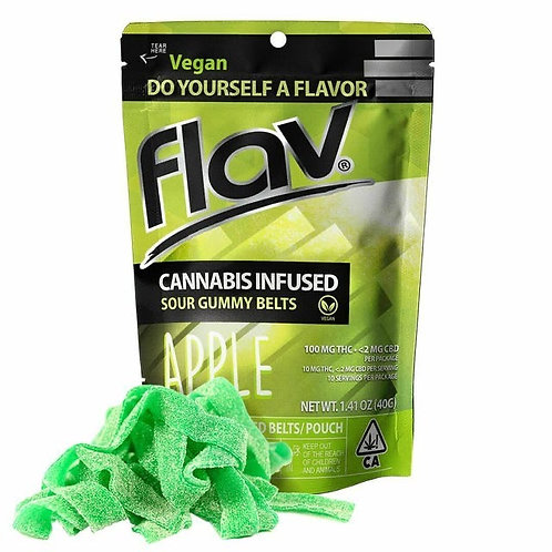 Flav Sour Gummy Belts Apple