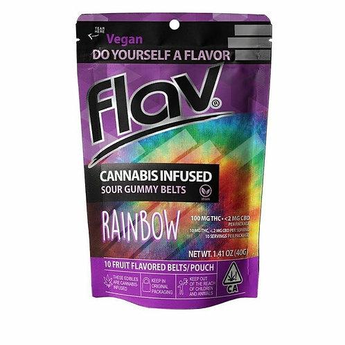 Flav Sour Gummy Belts Rainbow