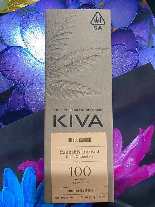 Kiva Bar Dark Chocolate Toffee Crunch