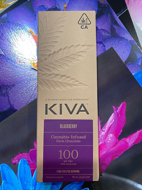 Kiva Bar Dark Chocolate Blackberry