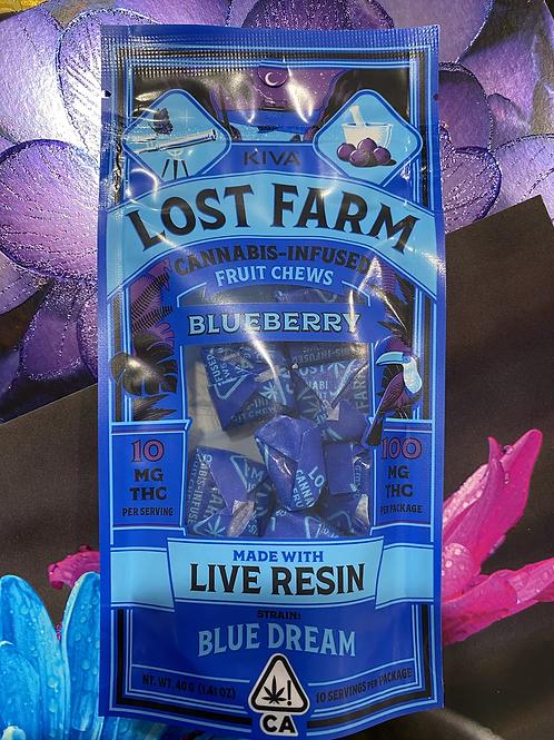Kiva Lost Farm Chews Blueberry (Sativa)