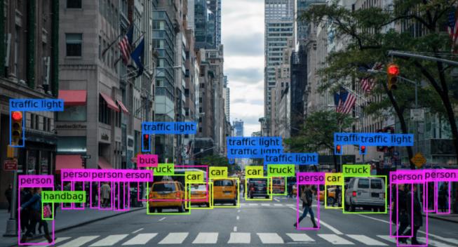 Detecção de objetos em uma rua. Rede Neural e VIsão Computacional