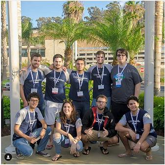 The UFRJ Nautilus team in San Diego, at Robosub 2019
