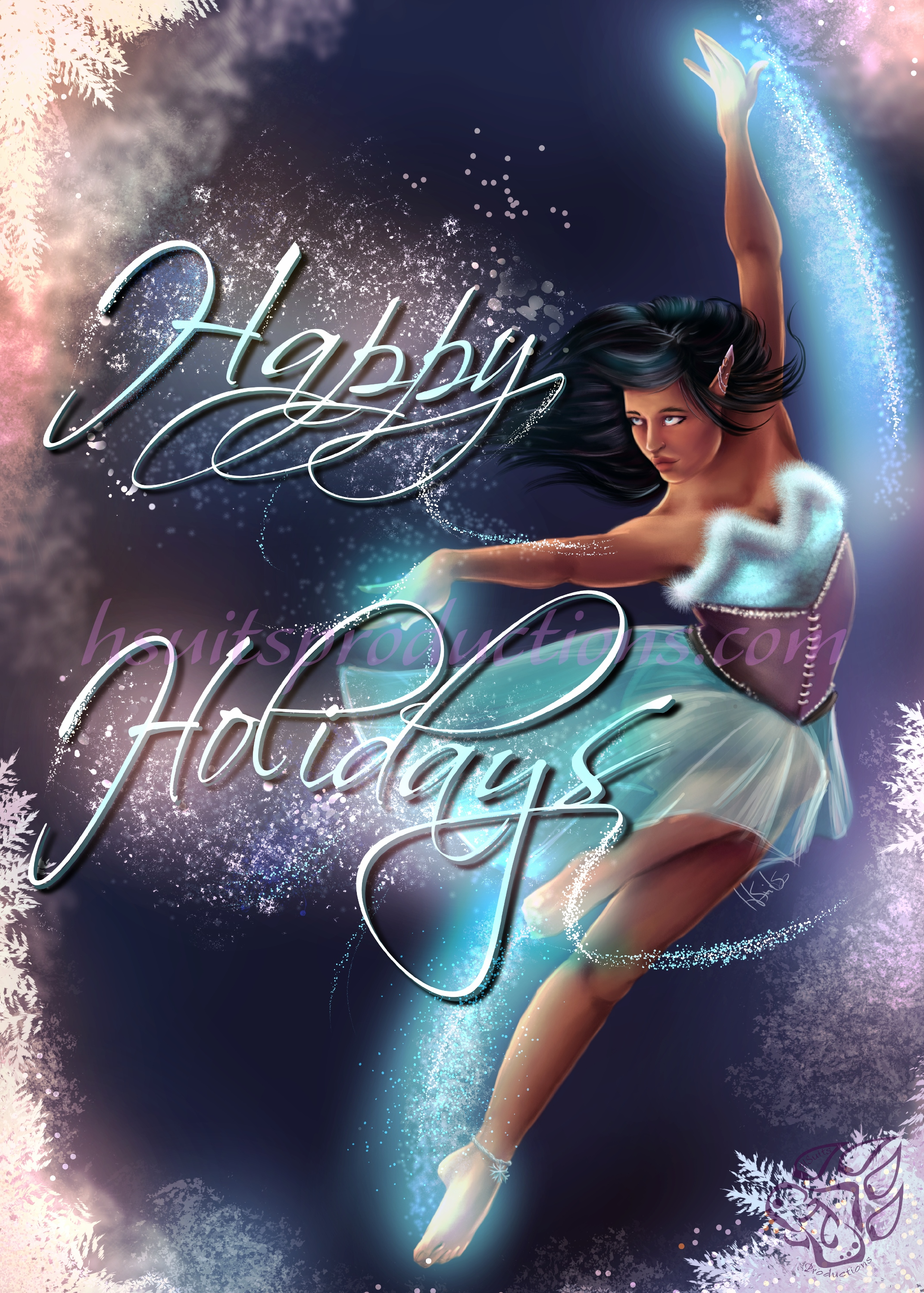 Holiday Magic Card Design