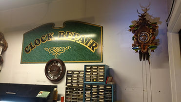 Clock Repair Shoppe Sign