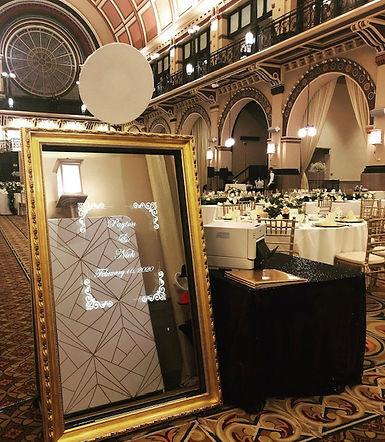 Mirror photo booth wedding