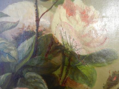 Les Roses (détail) - Avant restauration