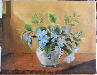 Vase fleuri - Après restauration