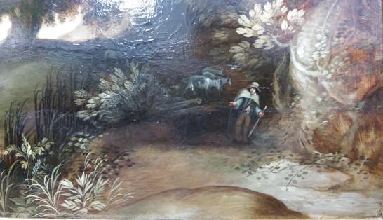 Paysage flamand (détail) - Après restauration