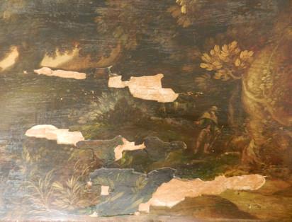Paysage flamand (détail) - Avant restauration