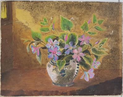 Vase fleuri - Avant restauration