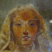 La Vierge de l'Apocalypse (détail) - Avant restauration