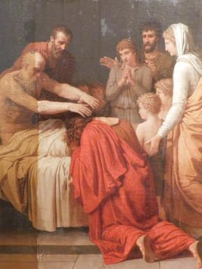 La Mort du roi David - En cours de restauration