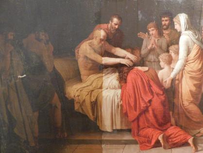 La Mort du Roi David (détail) - En cours de restauration