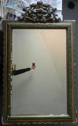 Miroir mouluré - Avant restauration