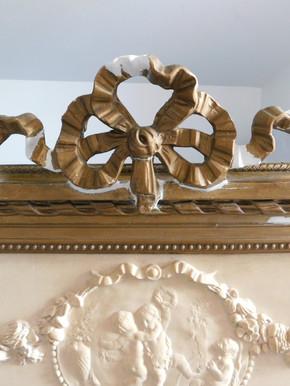 Trumeau (détail) - En cours de restauration