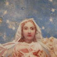 La Vierge de l'Apocalype (détail) - En cours de restauration