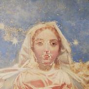 La Vierge de l'Apocalypse (détail) - En cours de restauration