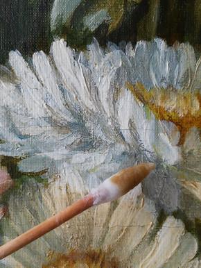 Composition florale 1 (détail) - En cours de restauration