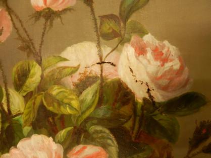Les Roses (détail) - En cours de restauration