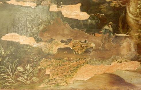 Paysage flamand (détail) - En cours de restauration