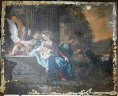 Présentation de l'Enfant Jésus aux Anges - En cours de restauration