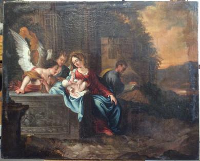 Présentation de l'Enfant Jésus aux Anges - Avant restauration