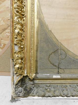 Cadre (détail) - En cours de restauration