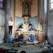 Chapelle de la Vierge - Restauration des peintures murales et de l'autel