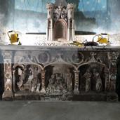 Autel de la chapelle - Avant restauration