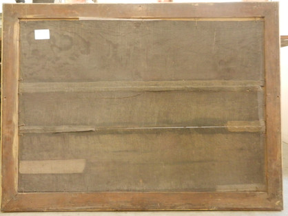 Paysage flamand (revers) - Avant restauration