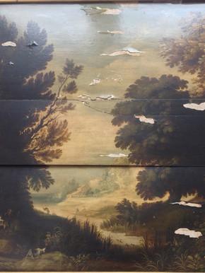 Paysage flamand - Avant restauration