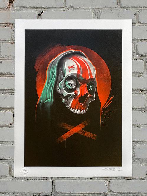 Skull X (30 x 40cm) limited print edition