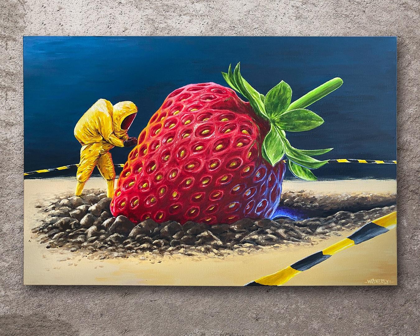 Strawberry Crash Landing    SOLD